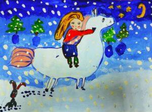 рисунок Задаевой Камилы на конкурс Зимняя сказка (1)